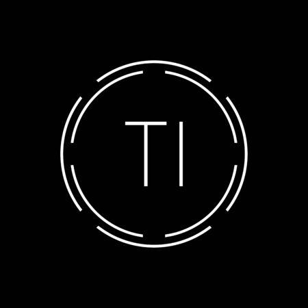 Initial Letter TI Logo Creative Typography Vector Template. Circle Letter TI Logo Design Logó