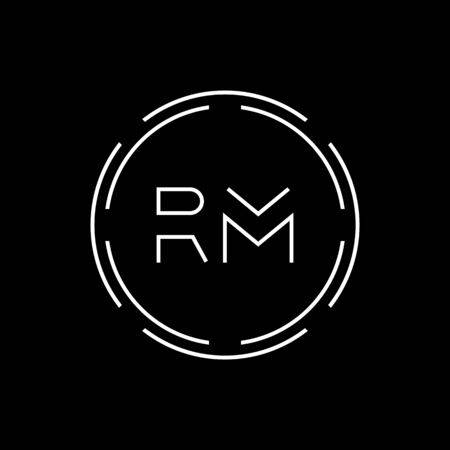 Initial Letter RM Logo Creative Typography Vector Template. Digital Abstract Letter RM Logo Design
