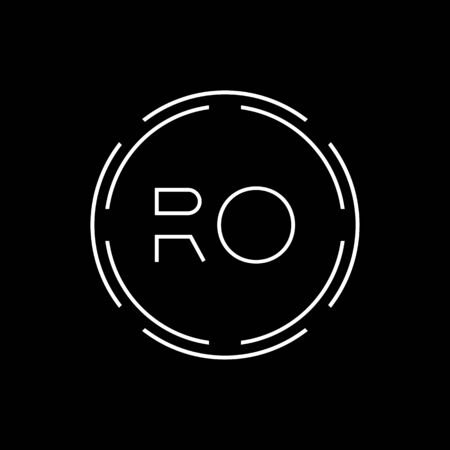 Initial Letter RO Logo Creative Typography Vector Template. Digital Abstract Letter RO Logo Design
