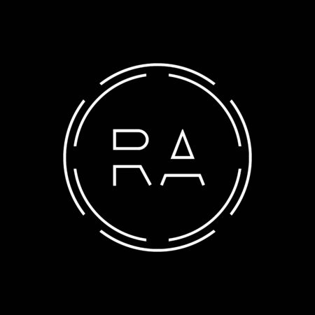 Initial Letter RA Logo Creative Typography Vector Template. Digital Abstract Letter RA Logo Design Logo