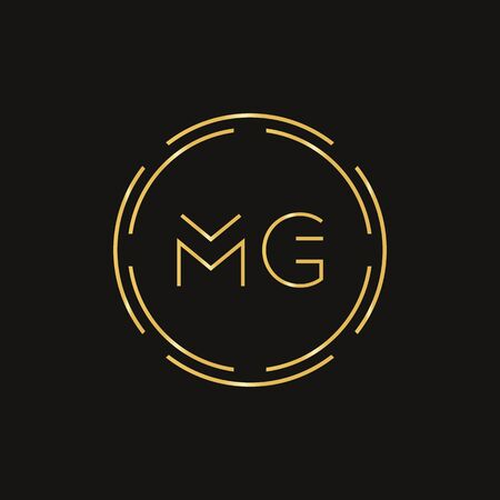 Initial MG letter Logo Design vector Template. Abstract Letter MG logo Design Logo