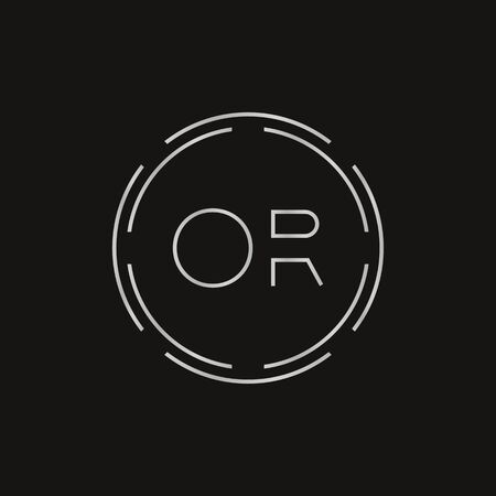 Initial Monogram Letter OR Logo Design Vector Template. Digital Technology OR Letter Logo Design
