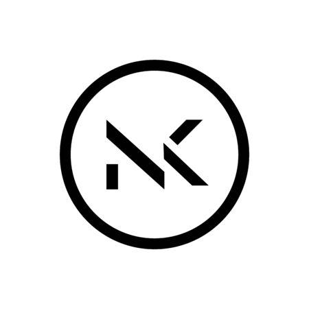 Initial Letter NK Logo Design Vector Template. Creative Abstract NK Letter Logo Design Ilustrace