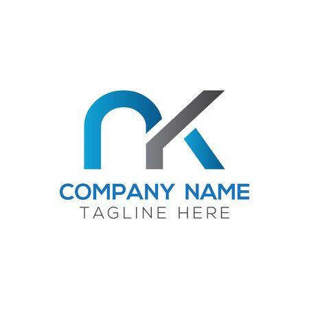 Initial Letter NK Logo Design Vector Template. Creative Abstract NK Letter Logo Design