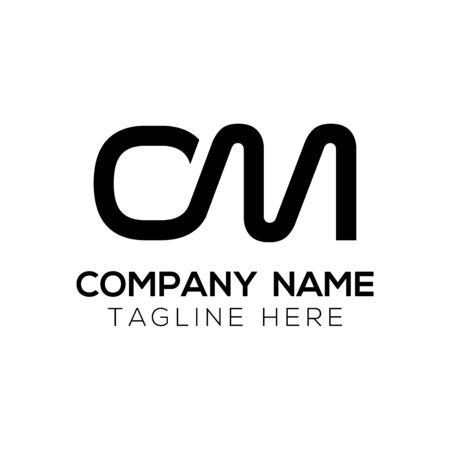 Initial Simple Letter OM Logo Design Vector Template. Abstract Minimal OM Letter Logo Design Logo