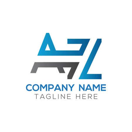 Initial AZ Letter Logo Design Modern Business Typography Vector Template. Creative Linked Letter AZ Logo Design Logo