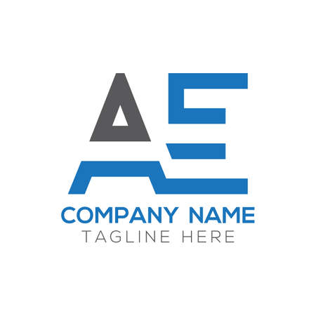 Initial AE Letter Logo Design Modern Business Typography Vector Template. Creative Linked Letter AE Logo Design Ilustracja
