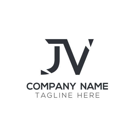 Creative letter JV Logo Design Vector Template. Initial Linked Letter JV Logo Design