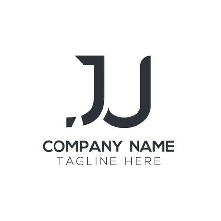 Creative letter JU Logo Design Vector Template. Initial Linked Letter JU Logo Design