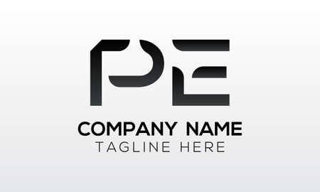 Initial PE Letter Logo With Creative Modern Business Typography Vector Template. Creative Letter PE Logo Vector. Logo
