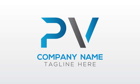 Initial PV Letter Logo With Creative Modern Business Typography Vector Template. Creative Letter PV Logo Vector.