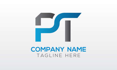 Initial PT Letter Logo With Creative Modern Business Typography Vector Template. Creative Letter PT Logo Vector. Logó