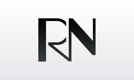 Initial rn letter logo with creative modern business typography vector template. Creative letter rn logo design.