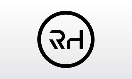 Initial rh letter logo with creative modern business typography vector template. Creative letter rh logo design.