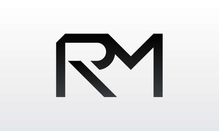 Initial rm letter logo with creative modern business typography vector template. Creative letter rm logo design.