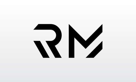 Initial rm letter logo with creative modern business typography vector template. Creative letter rm logo design. Logó