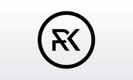 Initial rk letter logo with creative modern business typography vector template. Creative letter rk logo design. Logó