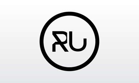 Initial ru letter logo with creative modern business typography vector template. Creative letter ru logo design. Logó