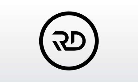 Initial rd letter logo with creative modern business typography vector template. Creative letter rd logo design.