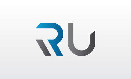 Initial ru letter logo with creative modern business typography vector template. Creative letter ru logo design.