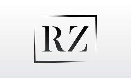 Initial rz letter logo with creative modern business typography vector template. Creative letter rz logo design.
