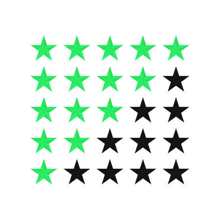 Five star rating customer review icon vector illustration 矢量图像