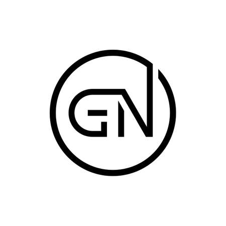 Initial Circle GN Letter Logo Creative Typography Vector Template. Creative Letter GN logo Design