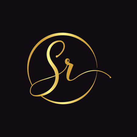 Initial SR letter Logo Design vector Template. Abstract Script Letter SR logo Design