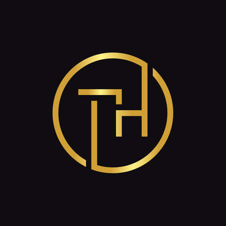 Initial Circle TH letter Logo Design vector Template. Abstract Letter TH logo Design
