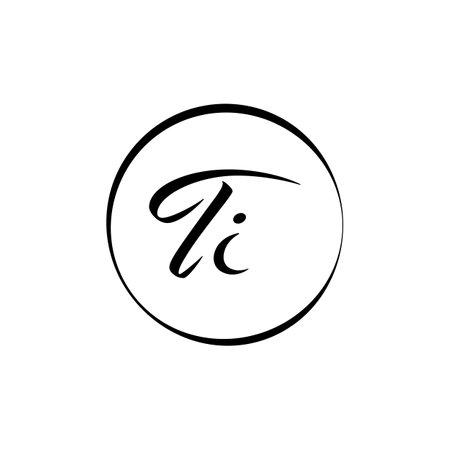Initial TI letter Logo Design vector Template. Abstract Script Letter TI logo Design Logó