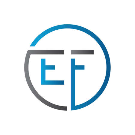 Initial EF Letter Logo Creative Typography Vector Template. Creative Circle Letter EF Logo Design
