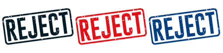 Rejected Rubber Stamp around Grunje on White Background. Rejected Sign Design Vector Illustration.