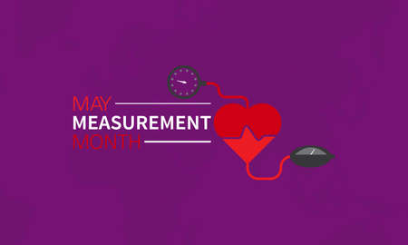 May Measurement month Prevention and awareness Vector Concept. Banner, Poster International May Measurement month Awareness Campaign Template.