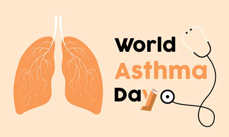 World Asthma Day Prevention and awareness Vector Concept. Banner, Poster World Asthma Day Awareness Campaign Template.
