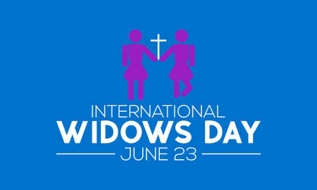 International Widows Day Awareness Concept Observed on June 23 Every Year. International Widows Template for background, Banner, Poster, Card Awareness Campaign.