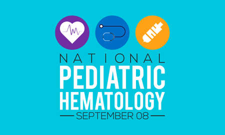 National pediatric hematology/oncology nurses day annual awareness observed on september each year. Banner, poster, card, background design.