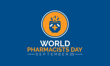 World pharmacists day observed on september each year. Banner, poster, card, background design. Always trusted for your health. Vektorové ilustrace