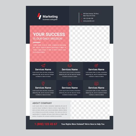 Business Flyer Templates Stock fotó - 140221145