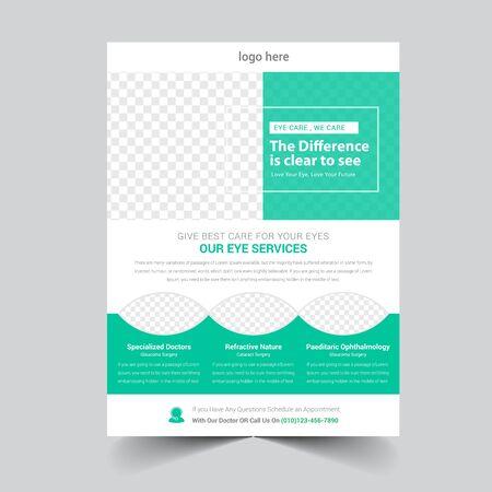Medical Flyer Template Vektoros illusztráció