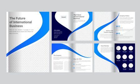 Business Brochure Template Ilustração Vetorial