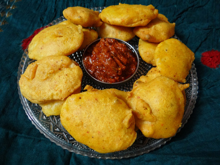 gram: Gram Flour Fritters Stock Photo