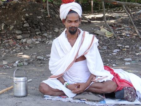 recluse: An Indian sage praying to God