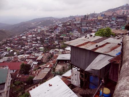 Kohima hill town settlement, Nagaland, north-east India