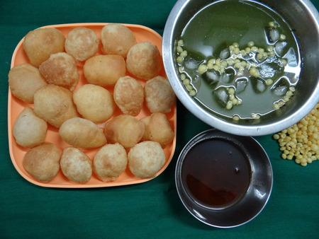 puri: Paani Puri Stock Photo