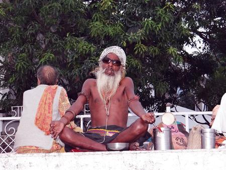 ascetic: An Indian sage praying to God