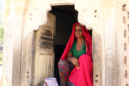 typical: A Rajasthani typical old Woman. Editorial