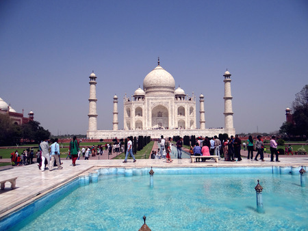 taj: World famous symbol of love, The Taj Mahal is a white marble mausoleum located in Agra, Uttar Pradesh, India. It was built by Mughal emperor Shah Jahan in memory of his wife, Mumtaz Mahal.