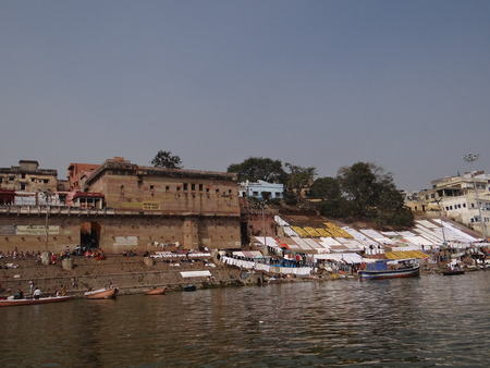 pious: The Holy River Gangas Ghats in Banaras : Varanasi is the oldest city of the world. Varanasi is more than 3000 years old and is famous as the city of temples.  Varanasi is also known by the name of Kashi and Benaras. Kashi, the city of Moksha for Hindus  Editorial