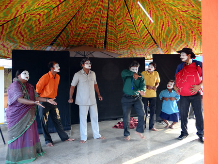 kinship: Indian stage artists showing their stage performance.