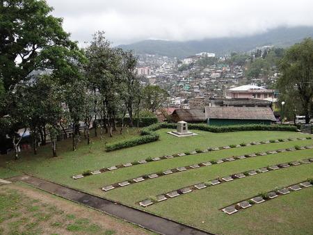 nagaland: Second World War Cemetery , Kohima, Nagaland, north-east India